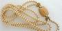 "Signed Trifari KUNIO MATSUMOTO 2 Strand Pearl Necklace Enamel Clasp 25"" Long Old Costume Jewelry"