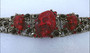 Vintage Selro Red Devil Noh Okina Mask Bracelet Big Bold Runway Couture Collector's Piece Old Costume Jewelry