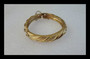 The look of Real Classic Monet Gold Bracelet Resembles 14K Hinged Bangle Vintage 1960's Old Costume Jewelry WO