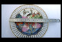 Antique Chinese Famille Rose Porcelain Plate Vivid Wild Peony & Leaves Design Cut Out Raised Border Avant Garde Gorgeous