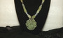 Green & Lavender Jade Beads Necklace w/ Large Chinese Carved Green Jade Pendant, Gorgeous! Old Costume Jewelry