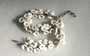 Vintage 1940's Molded Milk Glass Dangling Flower Beads Necklace Summer Charm Germany
