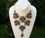Heidi Daus Beguiling Baroque Necklace Pearl Rhinestones Retired Color