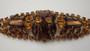 JULIANA Wide Rhinestone Bracelet Chevron Cut Stones Autumn Colors