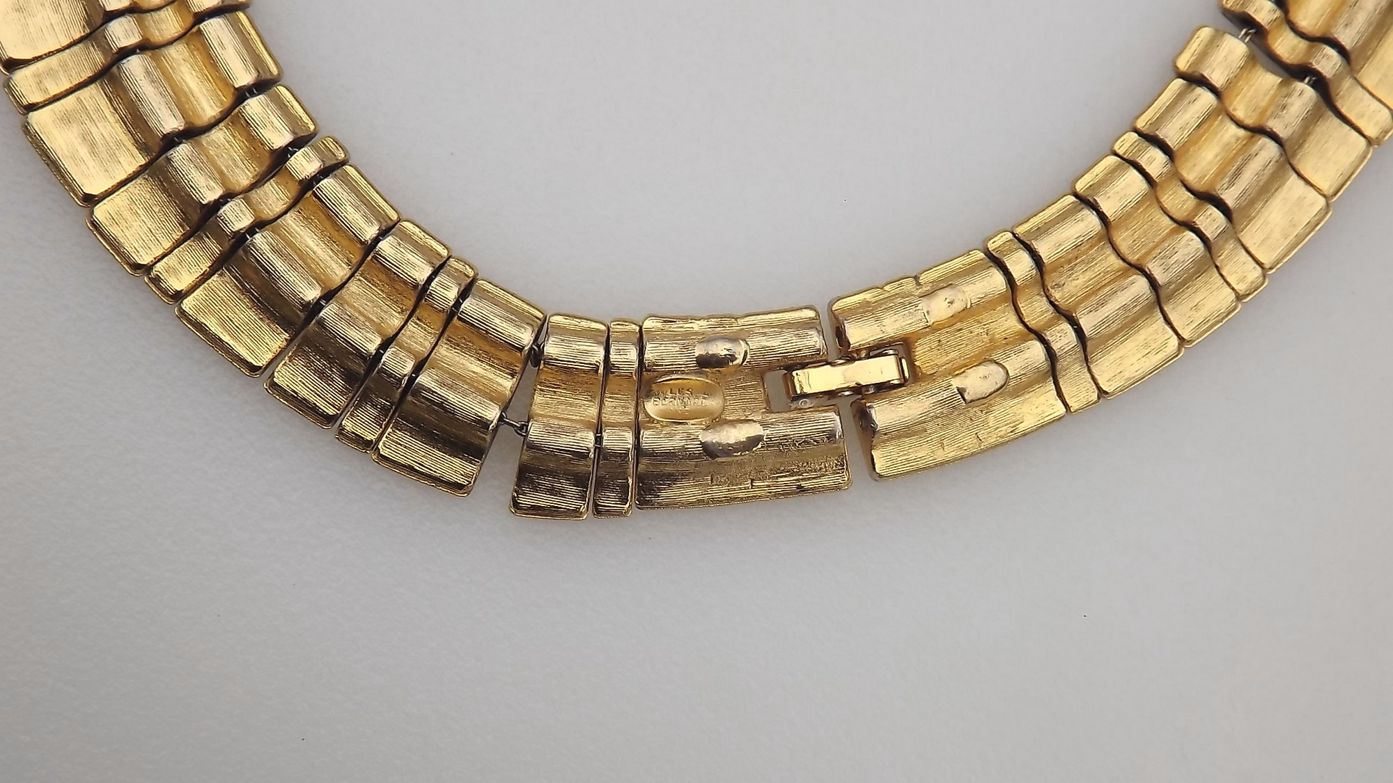 Vintage Signed Alice Caviness Egyptian Revival Inspired Collar Necklace Bib Gold Statement Necklace Outfit Accessories Vintage Wedding