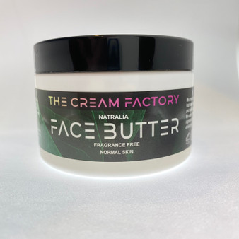 Our face butter for normal skin types is produced with unrefined ingredients and 100% natural. The butter is whipped to create a smooth buttery blend of  skin nourishing plant-based ingredients.
