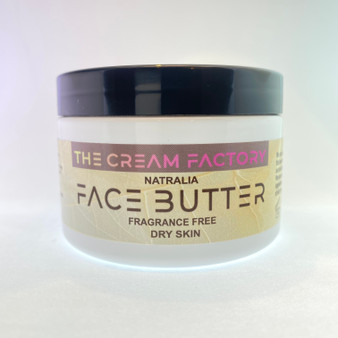 Our face butter is ideal for dry skin. The blend of oils and shea butter fortify the skin with moisture and acts as a barrier to free radicals.