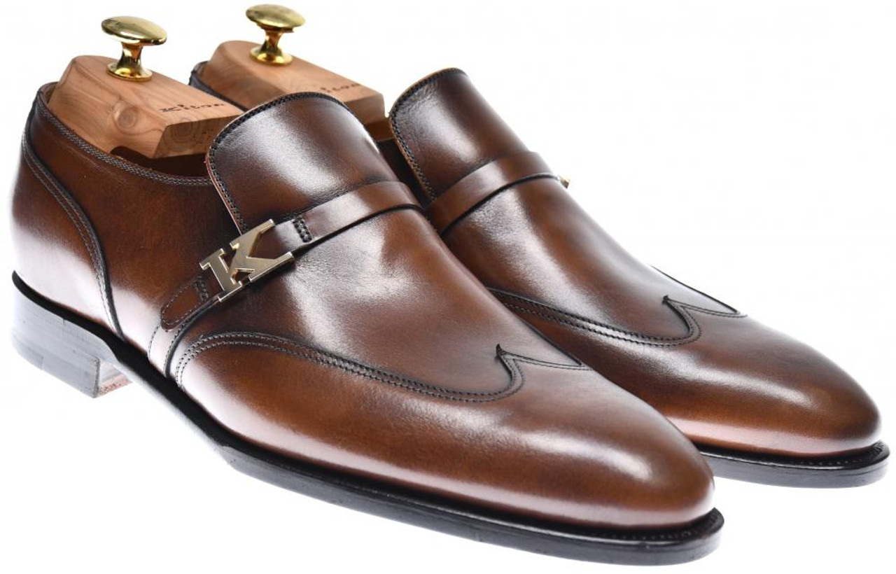 d6c8262ef05b7 Kiton Shoes Wingtip Loafers Leather Size 7 US Brown 01SO0123