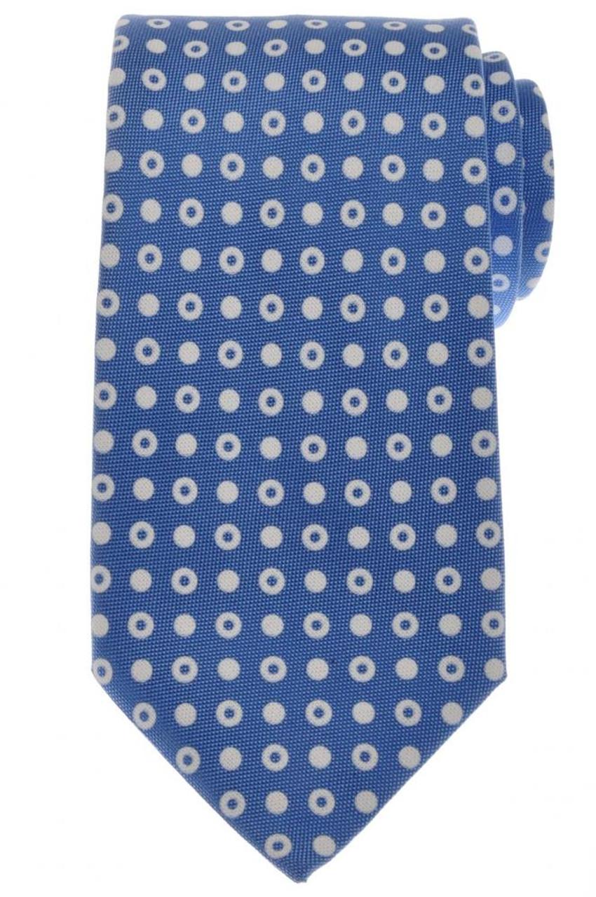Ermenegildo Zegna Tie Silk 59 1 4 x 3 1 4 Blue White Geometric ... 32ad0c22ab1