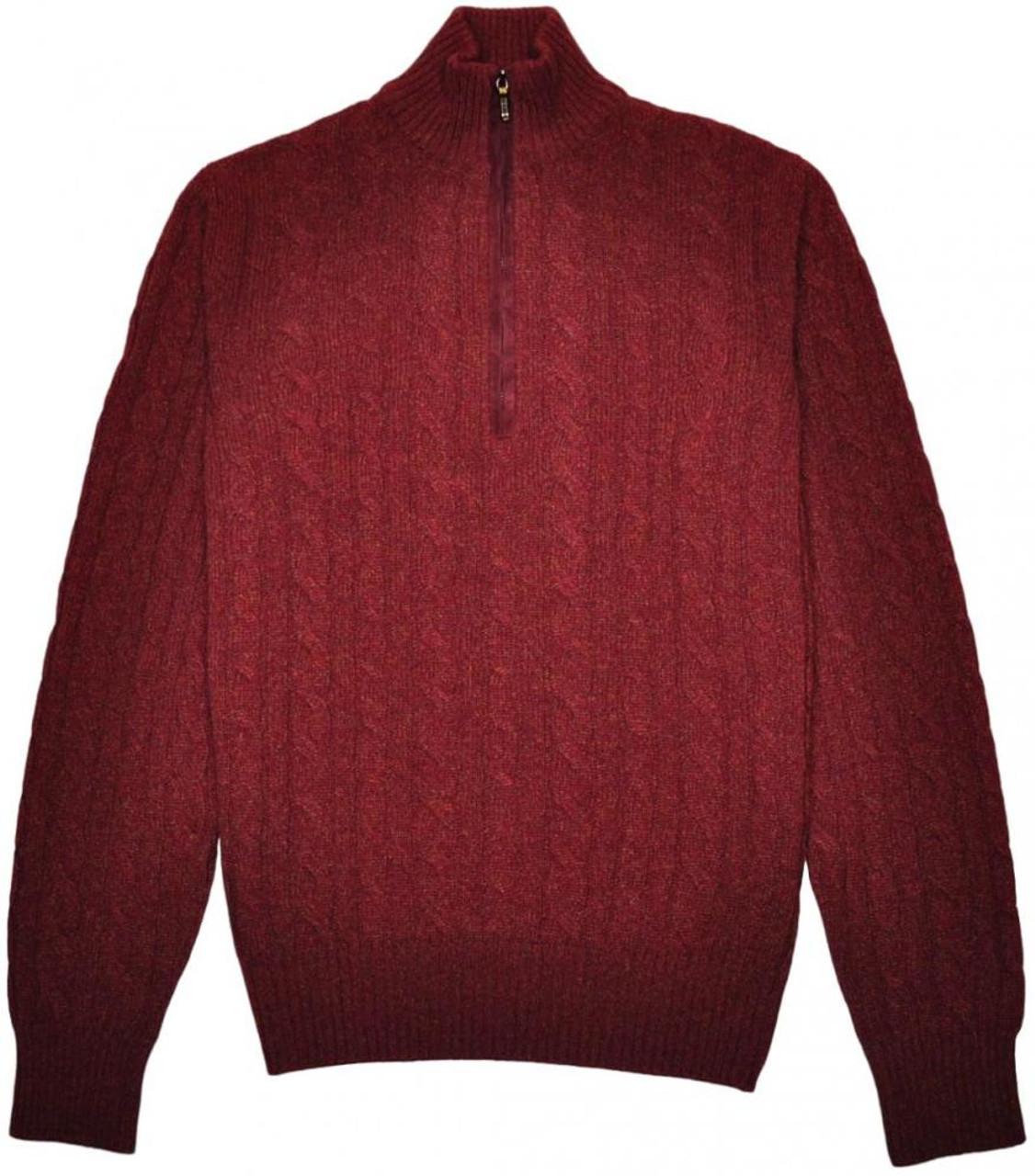 36b15d358ddf Loro Piana 1 2 Zip Sweater Baby Cashmere 48 Small Burgundy