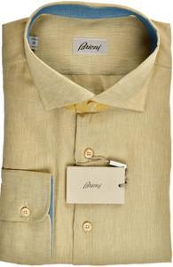 Brioni Dress Shirt Superfine Linen XLarge V Brown