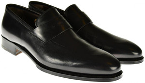 Brioni Dress Shoes Leather Loafers 8 US 41 EU Black