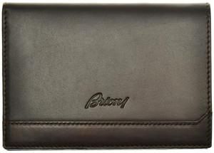 Brioni Wallet Bifold 8 Card Leather Dark Brown