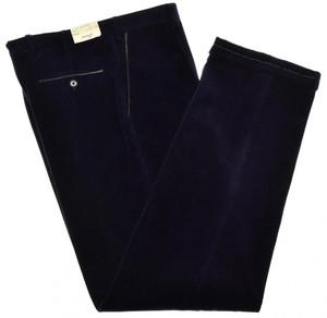 Brioni Pants 'Cortina' Corduroy Cotton Cashmere Size 42 Purple
