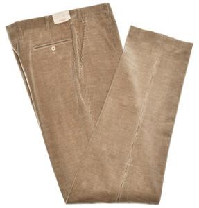 Brioni Pants 'Merano' Cotton Cashmere Corduroy Size 34 Brown