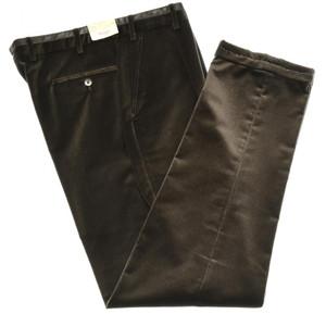 Brioni Pants 'Lavaredo' Cotton Velvet Size 34 Brown