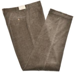 Brioni Pants 'Merano' Corduroy Cotton Cashmere Size 34 Brown