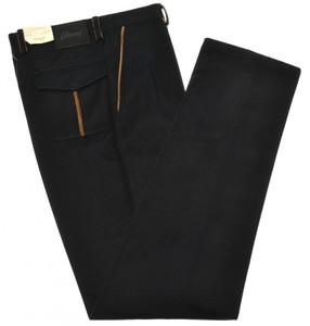 Brioni Pants 'Tirolo' Brushed Cotton Size 30 Blue