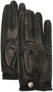 Brioni Driving Gloves Handmade Leather Size 8.5 Black