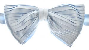 Brioni Bow Tie Pleated Silk Light Blue