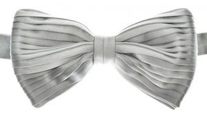 Brioni Bow Tie Pleated Silk Blue-Gray