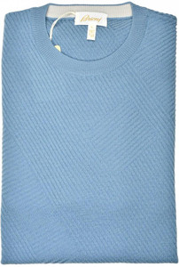Brioni Sweater Crewneck Wool Size Large Blue