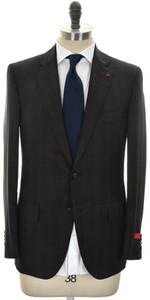 Isaia Suit 'Sanita' 2B Wool 140's Size 46 Brown Stripe