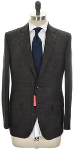 Isaia Suit 'Sanita' 2B Wool Blend Size 40 Brown Melange