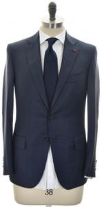 Isaia Suit 'Sanita' 2B Wool 140's Size 40 Blue Stripe
