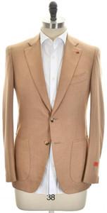 Isaia Sport Coat Jacket 'Gregorio' 2B Baby Camel Size 38 Brown