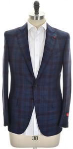 Isaia Sport Coat Jacket 'Sanita' 2B Wool Cashmere Size 38 Blue