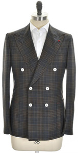 Isaia Sport Coat Jacket 'Cortina' DB Wool 140's Size 40 Gray