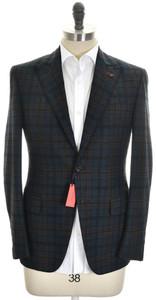 Isaia Sport Coat Jacket 'Gregory' 2B Wool Blend Size 38 Green