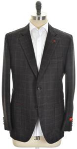 Isaia Sport Coat Jacket 'Sailor' 2B Wool 120's Size 46 Brown