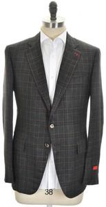 Isaia Sport Coat Jacket 'Gregorio' 2B Silk Cashmere Size 44 Green