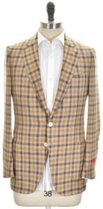 Isaia Sport Coat Jacket 'Dustin' 2B Wool Blend Size 38 Brown