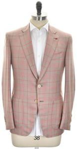Isaia Sport Coat Jacket 'Gregory' 2B Cashmere Silk Size 40 Brown