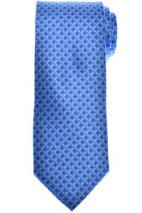 Brioni Tie Silk Blue Geometric