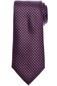 Brioni Tie Silk Gray Pink Geometric