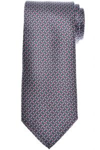 Brioni Tie Silk Gray Black Geometric