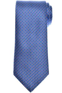 Brioni Tie Silk Blue Pink Geometric