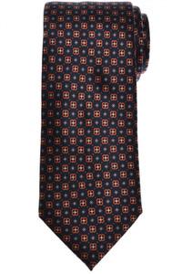 Brioni Tie Silk Black Orange Geometric