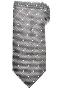Tom Ford Tie Woven Silk Gray Small Dot