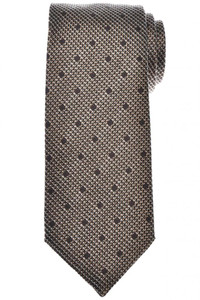 Tom Ford Tie Woven Silk Brown Small Dot