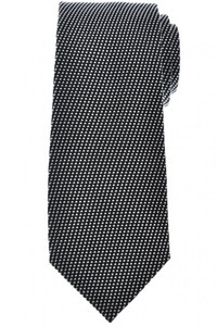 Tom Ford Tie Woven Silk Black White