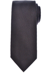 Tom Ford Tie Woven Cotton Silk Dark Brown