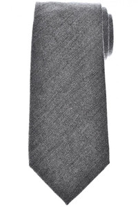Tom Ford Tie Woven Wool Silk Gray Solid