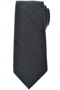 Tom Ford Tie Woven Wool Gray Solid
