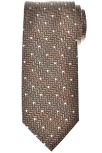 Tom Ford Tie Woven Silk Brown Dot