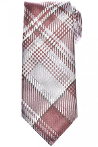 Tom Ford Tie Woven Silk Pink Plaid